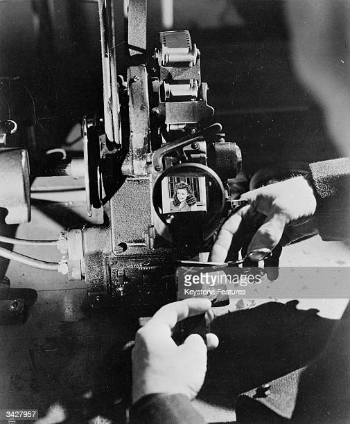 A cinematographer in the cutting room at the Warner Brothers Studios in Hollywood
