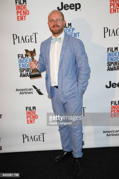 Cinematographer James Laxton, winner of the Best Cinematography award for 'Moonlight,' poses in the press room during the 2017 Film Independent...