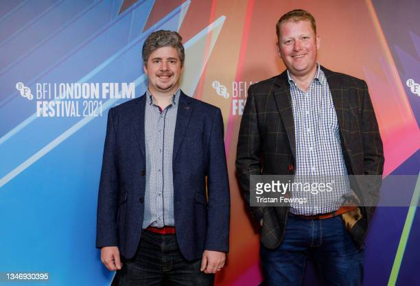 """Cinematographer Jamie Dempster and director and screenwriter Martyn Robertson attend the """"Ride The Wave"""" UK Premiere during the 65th BFI London Film..."""