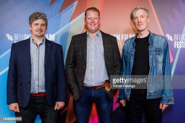 """Cinematographer Jamie Dempster , director and screenwriter Martyn Robertson and composer Scott Twynholm attend the """"Ride The Wave"""" UK Premiere during..."""
