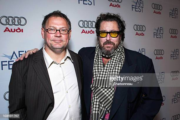 """Cinematographer Janusz Kaminski and Director Julian Schnabel at the Los Angeles Premiere of Miramax """"The Diving Bell and The Butterfly"""" at the..."""