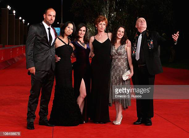 Cinematographer Jason Thomas director Yu Hsiu Camille Chen actresses Nina Deasley Nicola Bartlett Melanie Munt and actor James Hagan attend the...