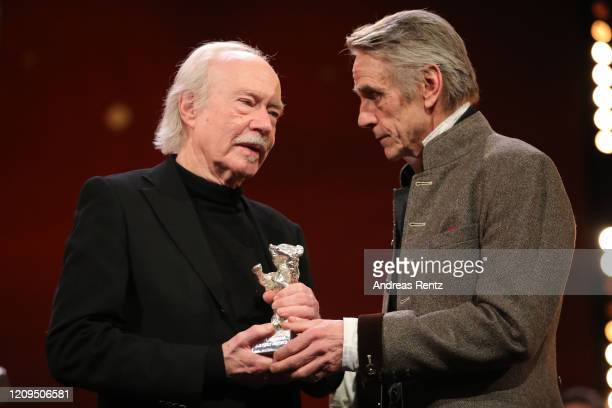"""Cinematographer Juergen Juerges , receives the Silver Bear for Outstanding Artistic Contribution for the film """"DAU. Natasha"""" from President of the..."""