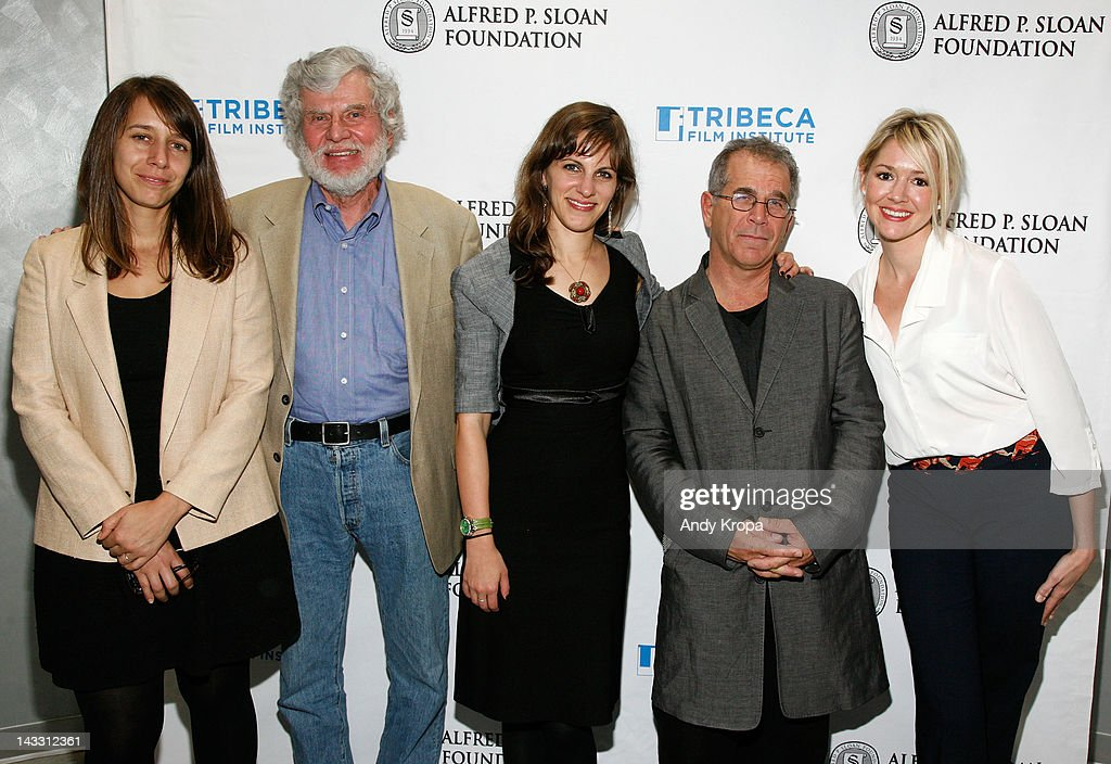 Cinematographer Kat Westergaard, Carter Bancroft, Dara Bratt, producer Andrew Fierberg and Katie Olsen attend the Sloan WIP Readings & Cocktails during the 2012 Tribeca Film Festival at the Green Space on April 23, 2012 in New York City.