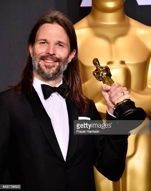 Cinematographer Linus Sandgren winner of the Best Cinematography award for 'La La Land' poses in the press room during the 89th Annual Academy Awards...