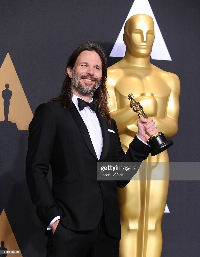 Cinematographer Linus Sandgren, winner of the Best Cinematography award for 'La La Land' poses in the press room at the 89th annual Academy Awards at Hollywood & Highland Center on February 26, 2017 in Hollywood, California.