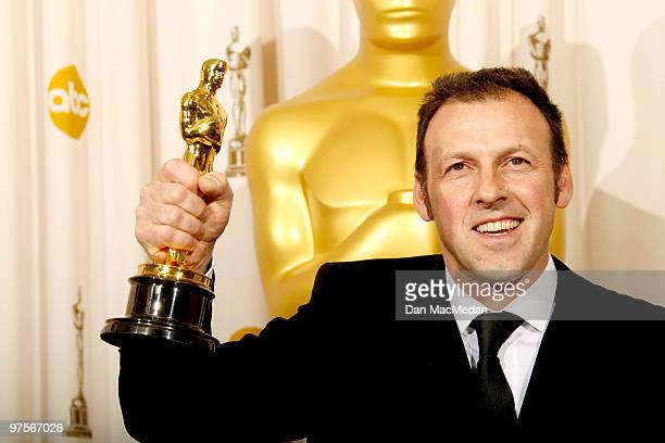 """Cinematographer Mauro Fiore, winner for Best Cinematography for """"Avator"""" poses in the press room at the 82nd Annual Academy Awards held at the Kodak..."""