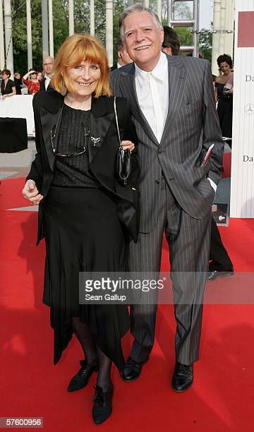 Cinematographer Michael Ballhaus and his wife Helga arrive at the German Film Awards at the Palais am Funkturm May 12 2006 in Berlin Germany