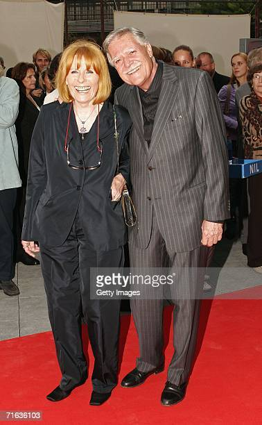 Cinematographer Michael Ballhaus and his wife Helga attend the premiere of the play Die Dreigroschenoper at the Admiralspalast August 11 2006 in...