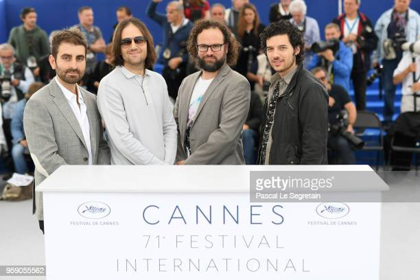 Cinematographer Mike Gioulakis director David Robert Mitchell film editor Julio Perez IV and composer Rich Vreeland attends Under The Silver Lake...
