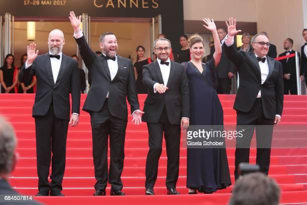 Cinematographer Mikhail Krichman actor Alexey Rozin director Andrey Zvyagintsev actress Maryana Spivak and producer Alexander Rodnyansky attends the...
