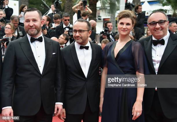Cinematographer Mikhail Krichman actor Alexey Rozin director Andrey Zvyagintsev actress Maryana Spivak and producer Alexander Rodnyansky attend the...
