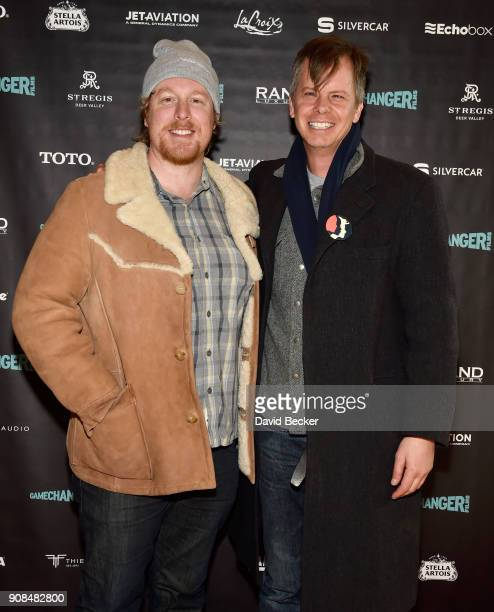 Cinematographer Noah Rosenthal and actor Nick Morton attends the Gamechanger Films reception at the RAND Luxury Escape during the 2018 Sundance Film...