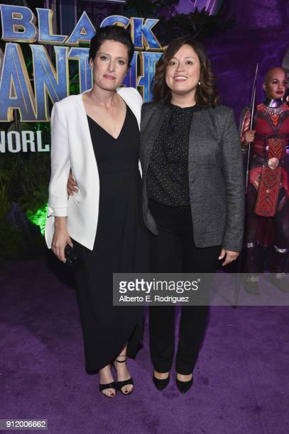 Cinematographer Rachel Morrison and guest at the Los Angeles World Premiere of Marvel Studios' BLACK PANTHER at Dolby Theatre on January 29 2018 in...