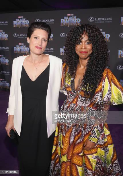 Cinematographer Rachel Morrison and production designer Hannah Beachler at the Los Angeles World Premiere of Marvel Studios' BLACK PANTHER at Dolby...