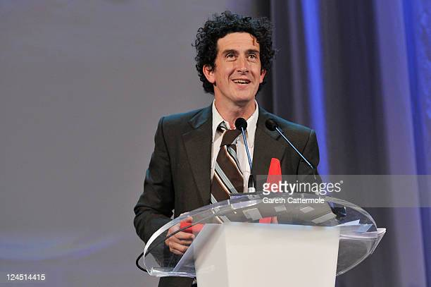 Cinematographer Robbie Ryan of Wuthering Heights accepts the Best Cinematography Award during the Closing Ceremony during the 68th Venice Film...