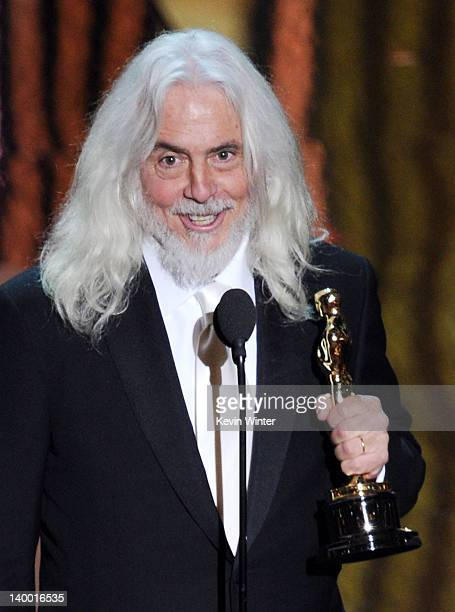 Cinematographer Robert Richardson accepts the Best Cinematography Award onstage during the 84th Annual Academy Awards held at the Hollywood &...