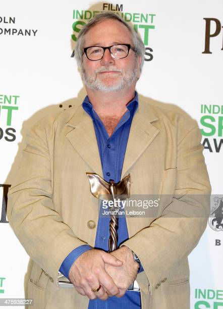 Cinematographer Sean Bobbitt poses with his Best Cinematography Award for '12 Years A Slave' in the press room during the 2014 Film Independent...