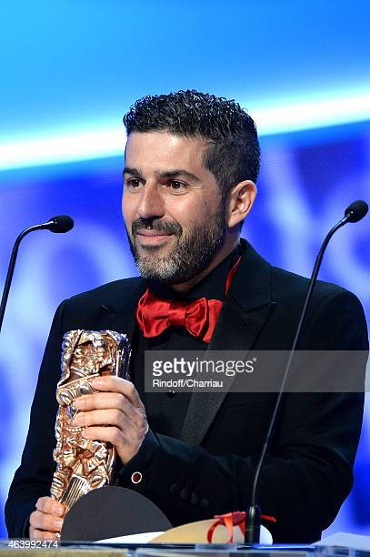 Cinematographer Sofian El Fani receives the award of the Best Cinematography award for Timbuktu during the 40th Cesar Film Awards 2015 Ceremony at...