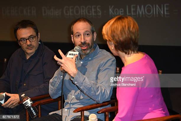 Cinematographer Stephanie Fontaine Writer Noah Oppenheim and Moderator Sharon Waxman attend TheWrap's Special Screening Presentation Of Your Name and...