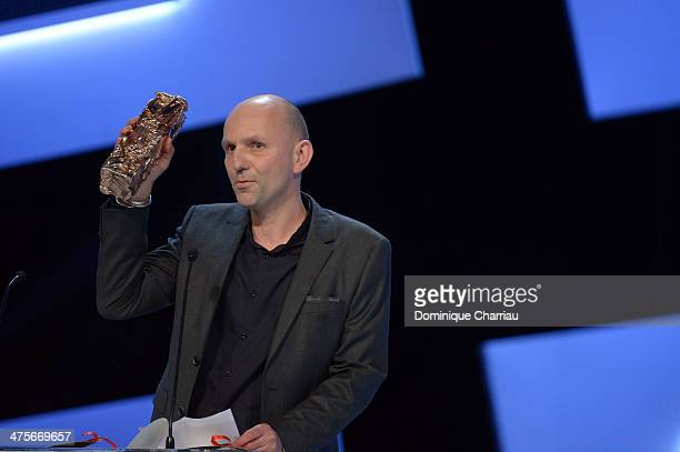 Cinematographer Thomas Hardmeier accepts the Best Cinematography award for 'The Young and Prodigious TS Spivet' on stage during the 39th Cesar Film...