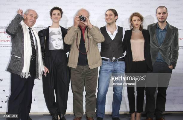 Cinematographer Vittorio Storaro actors Francesca Inaudi Lino Guanciale Emilia Verginelli director Carlos Saura and actor Lorenzo Balducci attend the...