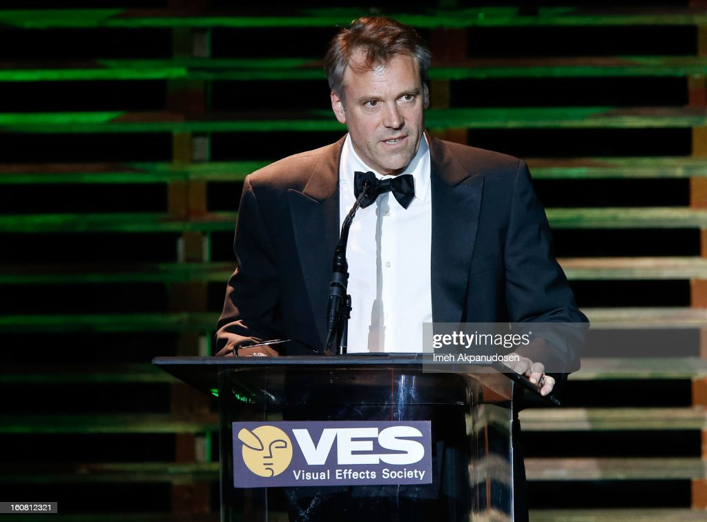 Cinematographer Wally Pfister speaks onstage at the 11th Annual Visual Effects Society Awards at The Beverly Hilton Hotel on February 5, 2013 in Beverly Hills, California.