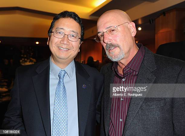 Cinematographers Michael Goi and Daniel Pearl attend the Academy of Motion Picture Arts and Sciences' Winter Exhibition opening reception on January...