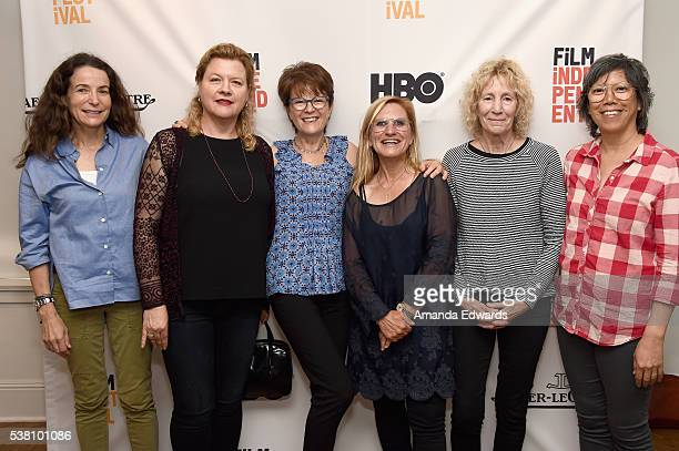 Cinematographers Tami Reiker Mandy Walker Maryse Alberti Amy Vincent Joan Churchill and Patricia Lee attend the Women Behind the Lens Panel during...