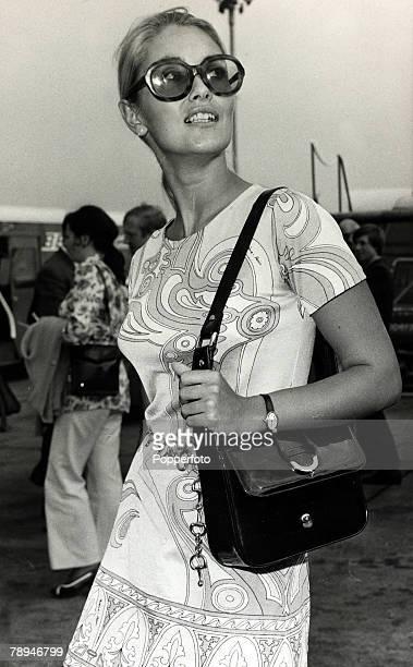 1st September 1970 English actress Alexandra Bastedo born 1946 pictured at London's Heathrow Airport