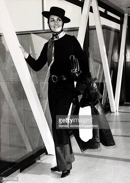 30th October 1969 English actress Alexandra Bastedo born 1946 pictured at London's Heathrow Airport