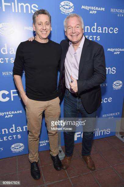 Cinetic Media founder John Sloss and IFC Films CoPresident Jonathan Sehring attend the IFC Films Independent Spirit Awards After Party presented by...