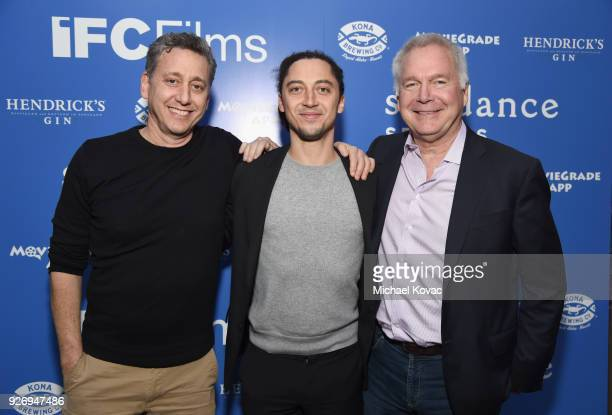 Cinetic Media founder John Sloss Jonas Carpignano and IFC Films CoPresident Jonathan Sehring attend the IFC Films Independent Spirit Awards After...