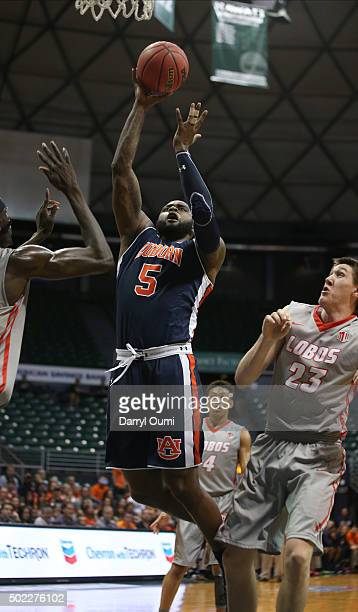Cinmeon Bowers of the Auburn Tigers shoots the ball against the New Mexico Lobos at the Stan Sheriff Center during the Diamond Head Classic on...