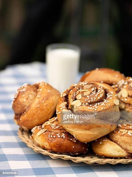 Cinnamon buns and milk Sweden.