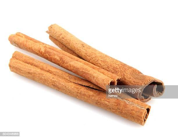 Cinnamon Isolated On White
