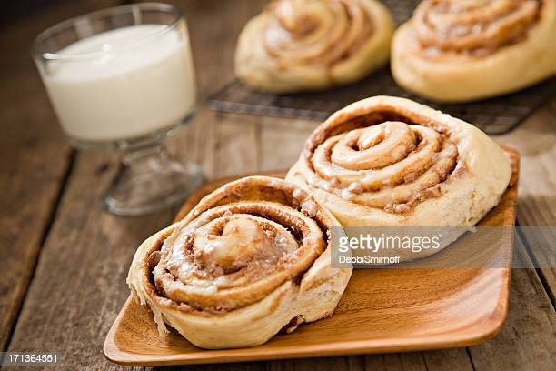 Cinnamon Rolls And Milk