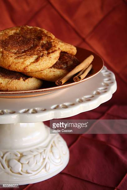 cinnamon snickerdoodles - snickerdoodle stock pictures, royalty-free photos & images