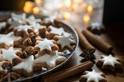 Cinnamon Star Cookies (Zimtsterne) - gettyimageskorea