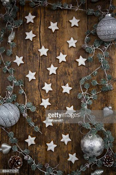 Cinnamon stars and christmas decoration