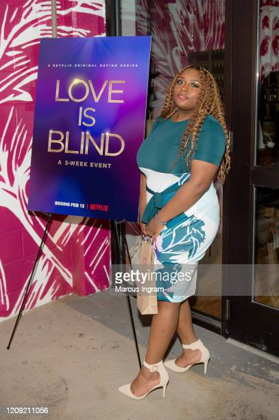 Cinnamon Twist attends the Netflix's Love is Blind VIP viewing party at City Winery on February 27 2020 in Atlanta Georgia