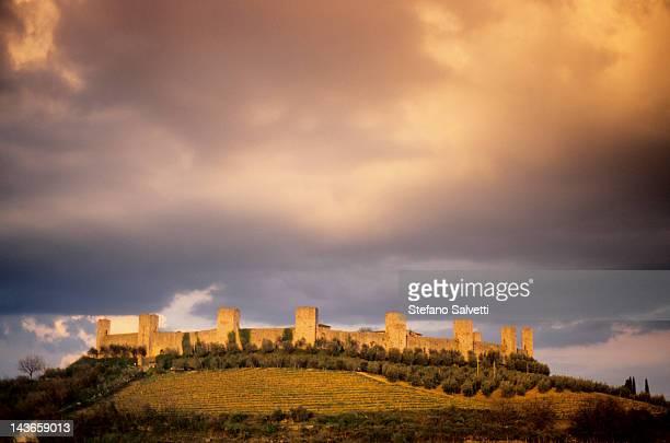 Cinta muraria, Monteriggioni, Siena, Toscana