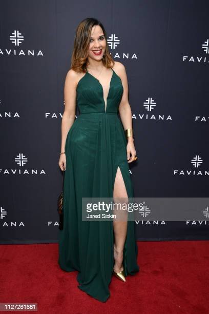 Cinthia Spoon attends Faviana's Annual Oscars Red Carpet Viewing Party on February 24 2019 at 75 Wall St in New York City