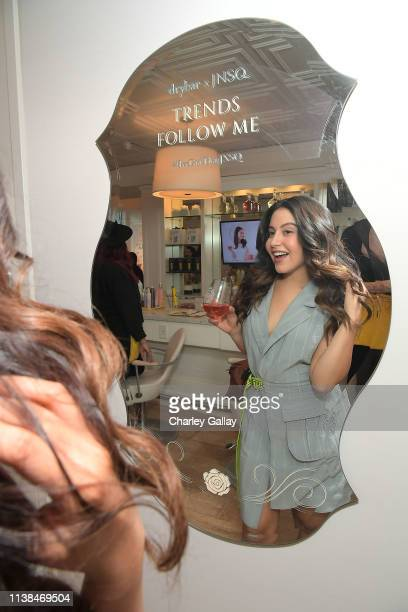 Cinthya Carmona attends JNSQ Launches as Official Wine Partner of Drybar Salons Nationwide LA Launch Party at Drybar Beverly Hills on March 22 2019...