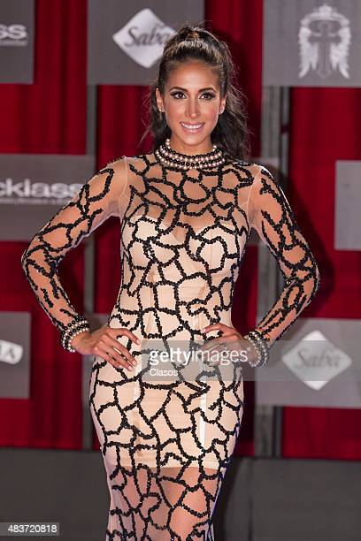 Cinthya Urias poses for pictures prior to Bandamax Awards 2015 at Palacio de los Deportes on August 11 2015 in Mexico City Mexico