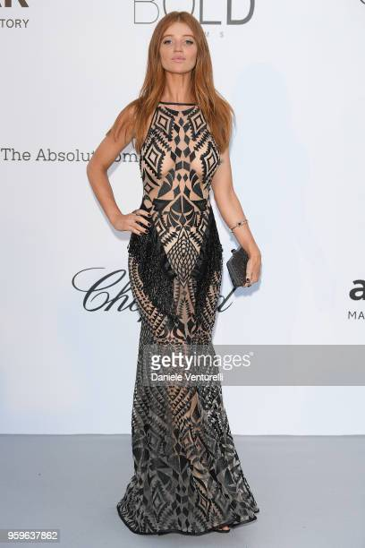 Cintia Dicker arrives at the amfAR Gala Cannes 2018 at Hotel du CapEdenRoc on May 17 2018 in Cap d'Antibes France