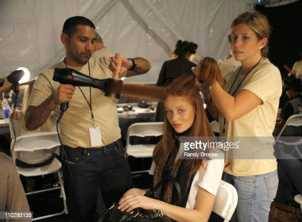 Cintia Dicker backstage at Academy of Art University Spring 2007