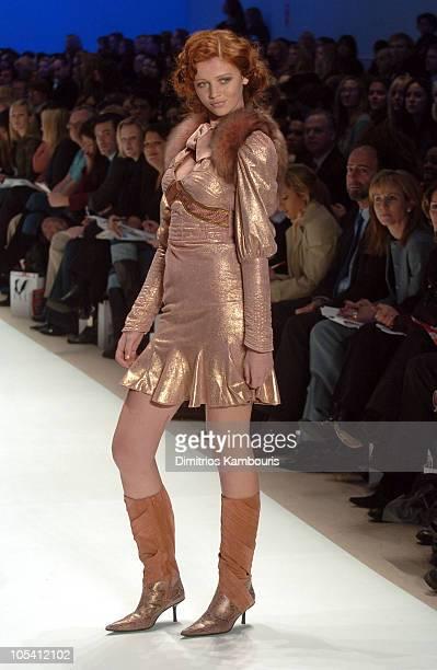 Cintia Dicker wearing Kara Saun for 'Project Runway' Fall 2005