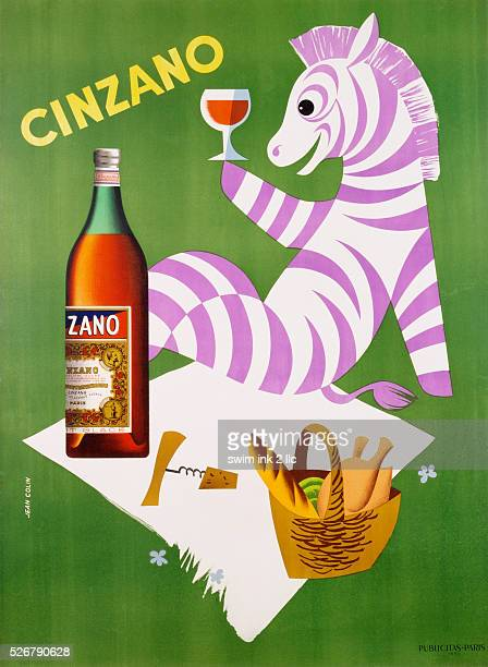 Cinzano Poster by Jean Colin