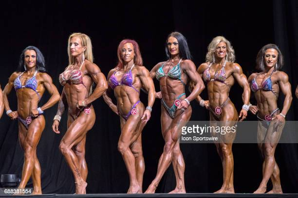 Cinzia Clapp Carrie Lawyer Diana Schnaidt Autumn Swansen and Tamara Qureshi compete compete in Women's Physique International as part of the Arnold...